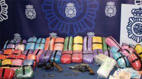 """La Policía Nacional desarticula una organización dedicada a la comisión de """"vuelcos"""" en operaciones de narcotráfico"""