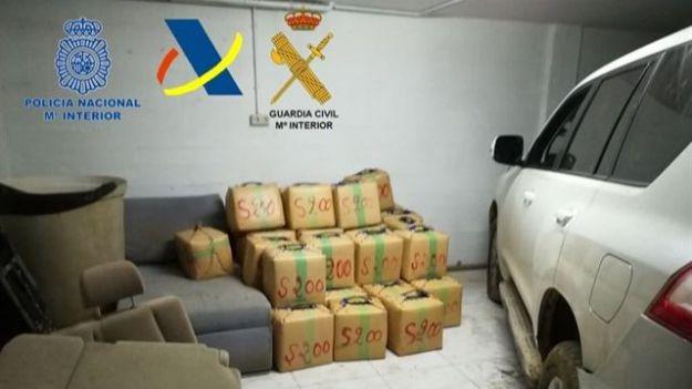 Aprehendidos 2.500 kilogramos de hachís en una finca de Cádiz