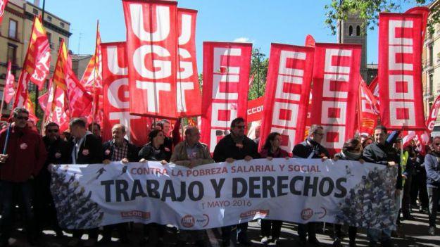 Los sindicatos agitarán las calles si no se reparte la riqueza
