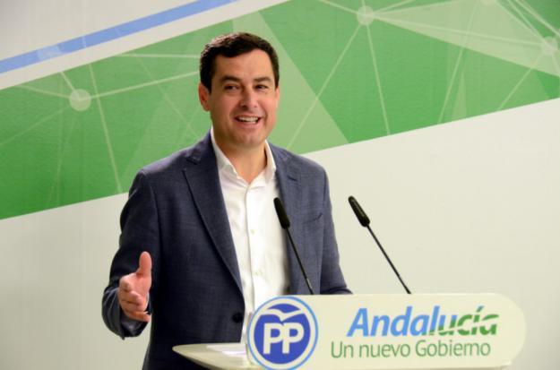 """Juanma Moreno: """"Salimos a ganar con el revulsivo de haber hecho historia en Andalucía"""""""