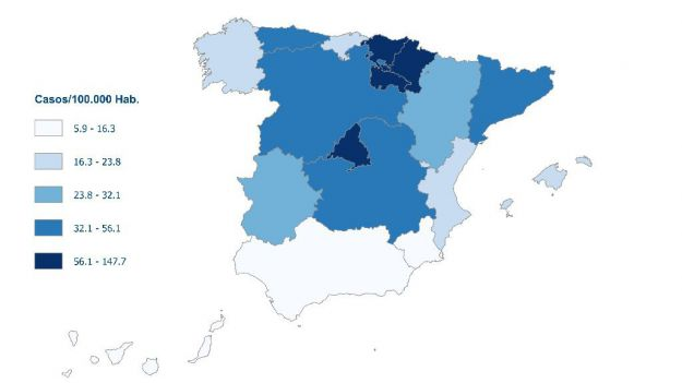 1.002 muertos por coronavirus España, 235 más en un solo día