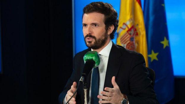 Casado niega su apoyo al estado de alarma y acusa a Sánchez de