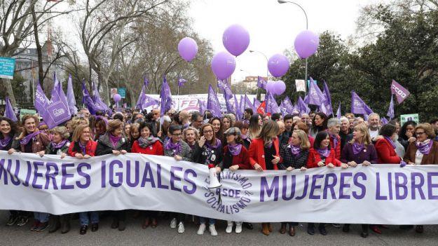 El Gobierno cifra en más de 600.000 las personas que asistieron el 8-M a las marchas por el Día de la Mujer