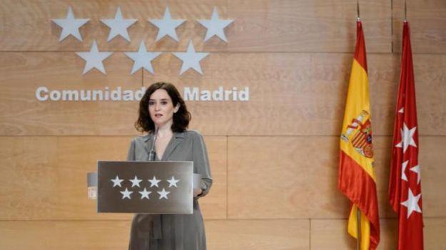 Isabel Díaz Ayuso carga contra el Gobierno tras dejar a Madrid en la 'Fase 0'