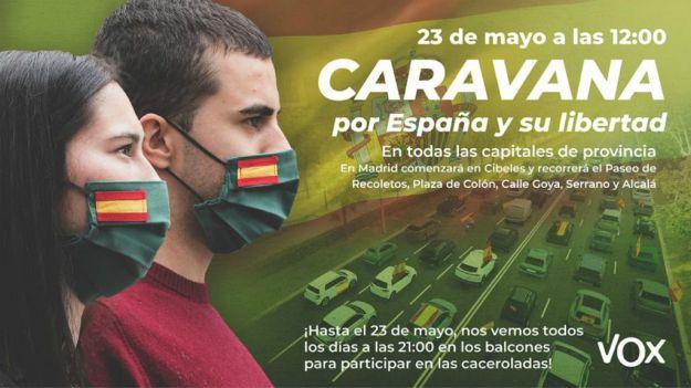 VOX convoca el 23 de mayo la 'Caravana por España y su Libertad'