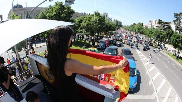 La protesta de Vox contra el Gobierno colapsa el centro de Madrid y de las principales ciudades españolas