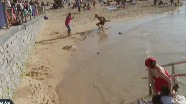 [VÍDEO] Agreden en directo un periodista de laSexta en la Playa de la Concha de San Sebastián