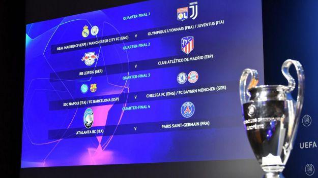 Sorteados los cuartos de final y las semifinales de la Champions League