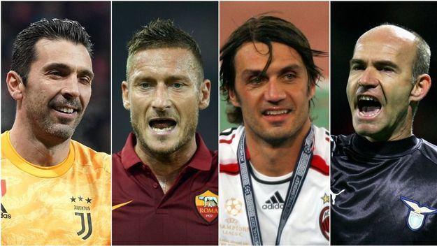 Los jugadores italianos predominan en la lista de futbolistas veteranos de la UEFA Champions League