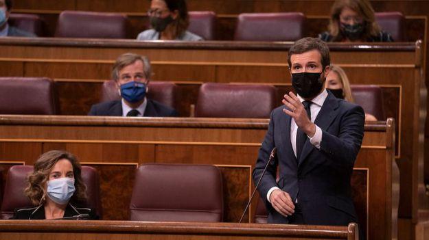 Casado a Sánchez: 'Si le queda un mínimo de dignidad institucional debe cesar a su gobierno radical'
