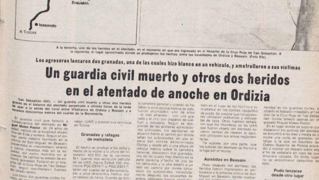 Condenado a 74 años de cárcel un etarra por un atentado en el que murió un guardia civil