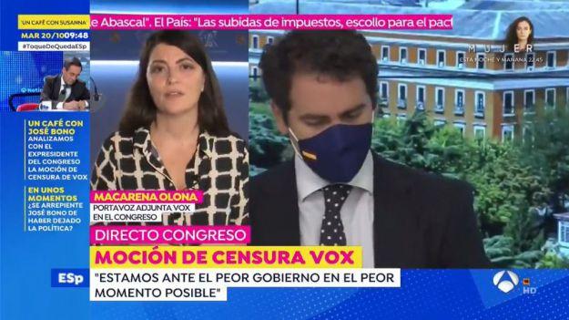 Olona: 'Nunca hubo tantos motivos para presentar una moción de censura'