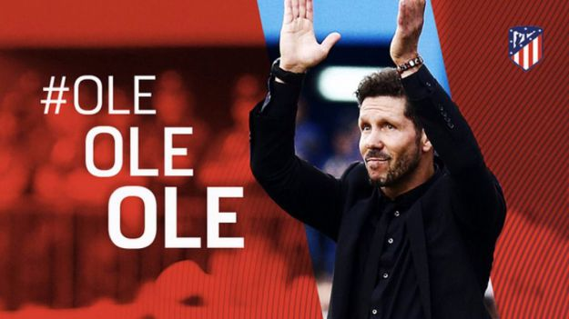 Simeone renueva hasta 2020 al frente del Atlético de Madrid