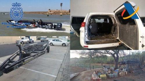 Intervenida una tonelada de hachís a una organización de narcos de Huelva