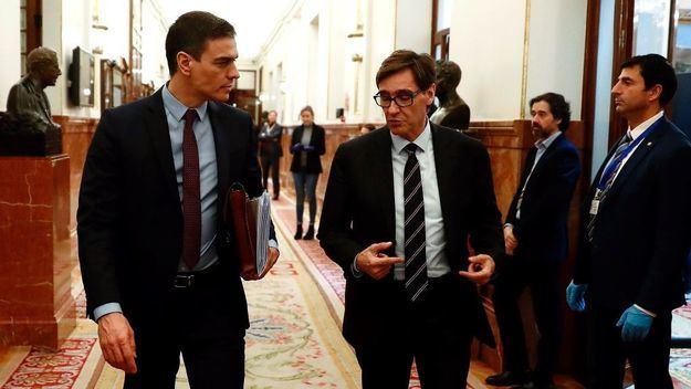 Pedro Sánchez defiende la candidatura de Illa a la Generalitat