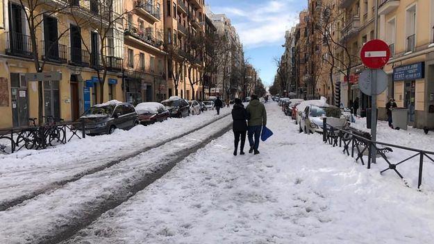 Incidencias del temporal de frío y nieve en España a 11 de enero