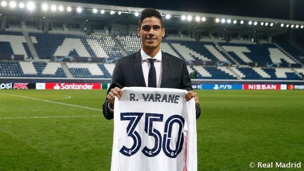 Varane: 'Para mí es un orgullo llegar a 350 partidos con el Real Madrid'