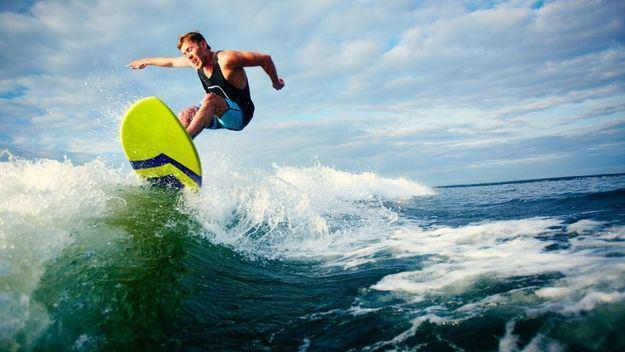 Deportes pasados por agua en un lugar idílico