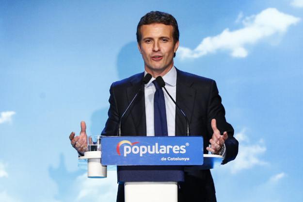 """Casado asegura que """"Pedro Sánchez y Pablo Iglesias son lo mismo"""""""