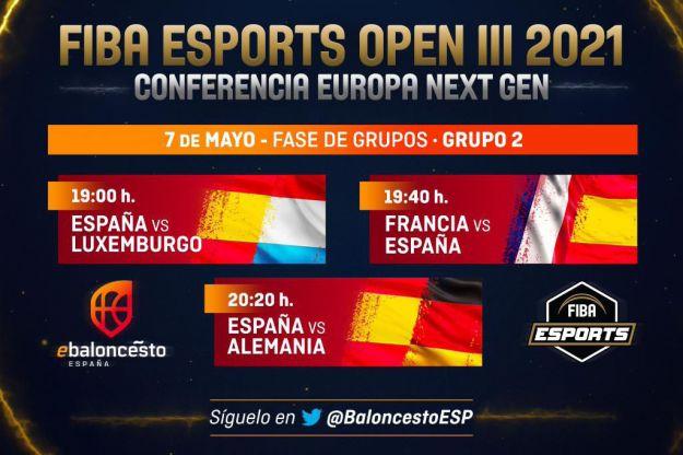 El calendario de la Selección Española en el FIBA Esports Open III