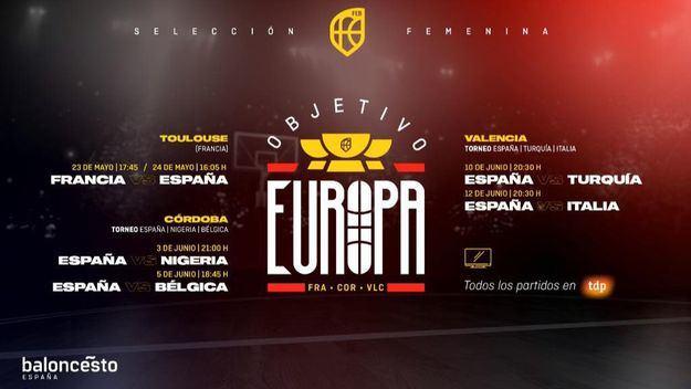 Seis partidos de preparación rumbo al Eurobasket 2021