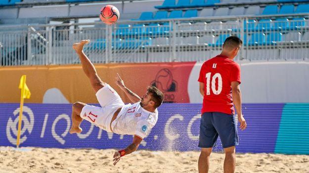 Fútbol playa: España arranca con goleada