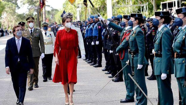 La reina Letizia presidió el acto de la festividad del patrón de la Policía Municipal de Madrid