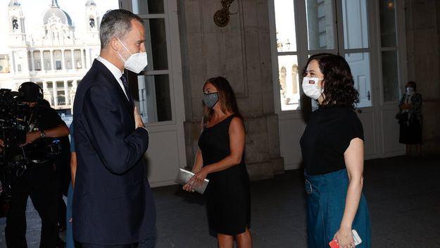 Ayuso asiste al homenaje de Estado a las víctimas de la pandemia del COVID-19