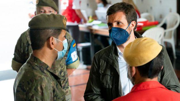 Casado expresa su solidaridad con La Palma y reivindica unidad de acción para que las ayudas lleguen cuanto antes