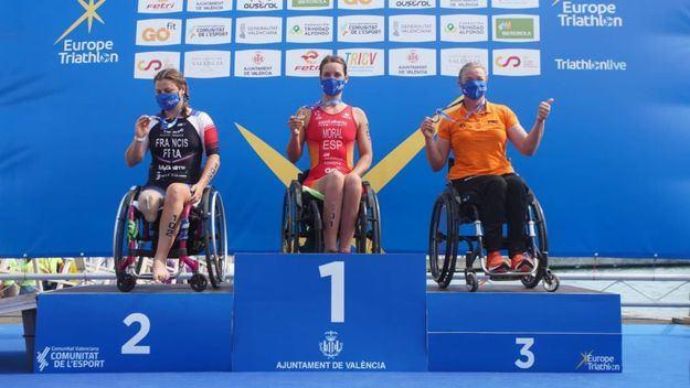 El triatlón paralímpico español triunfa en el europeo con 8 medallas