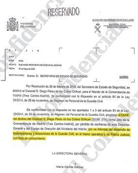 Marlaska cesó a Pérez de los Cobos por no filtrarle investigaciones y esta nota lo demuestra