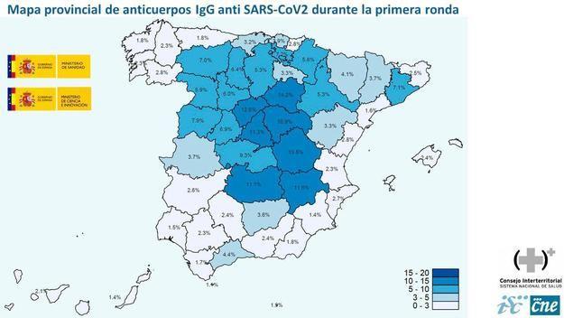 Covid-19: Solo un 5% de la población española ha pasado la enfermedad
