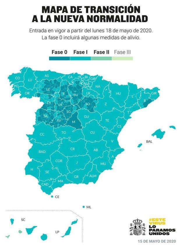 Madrid, Barcelona y más de la mitad de Castilla y León se quedan en fase cero pero con menos restricciones