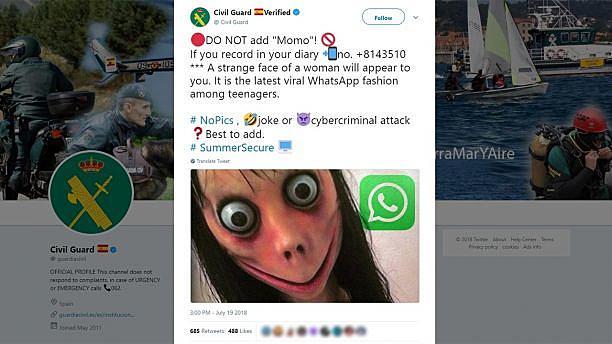 Momo Challenge: un padre denuncia a Youtube, WhatsApp y al Estado francés
