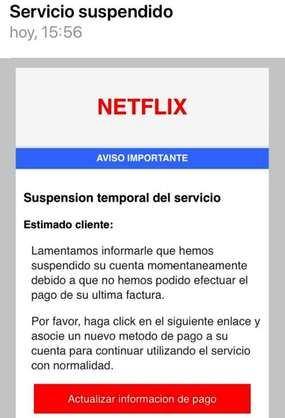 Alerta: Phishing NETFLIX