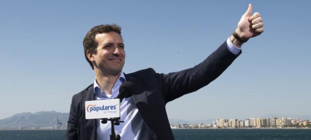 """Casado: """"O Sánchez con Torra y Podemos, o el PP rescatando a España de la ruina y el independentismo"""""""